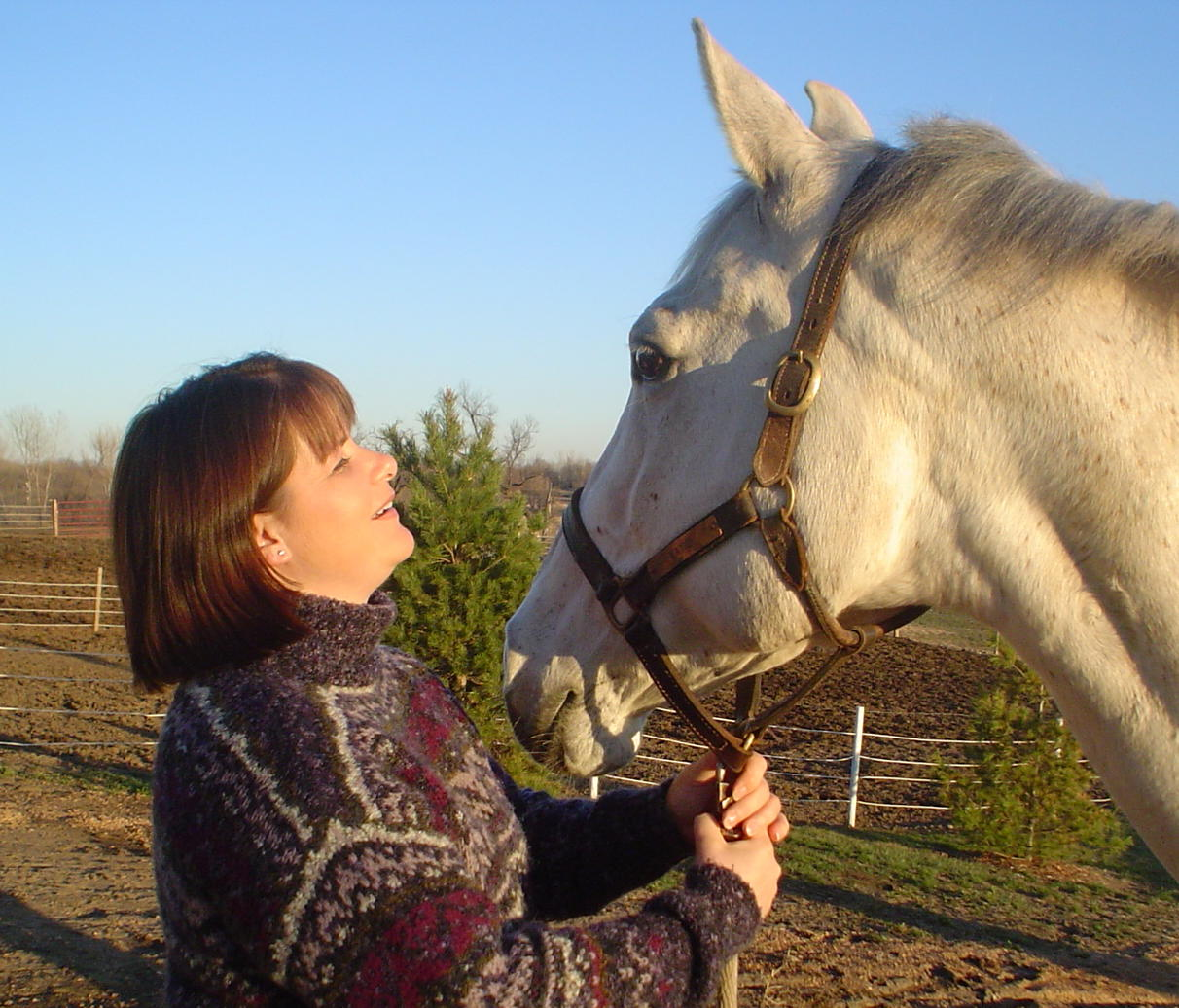Marilyn with Sheri's horse, Katie